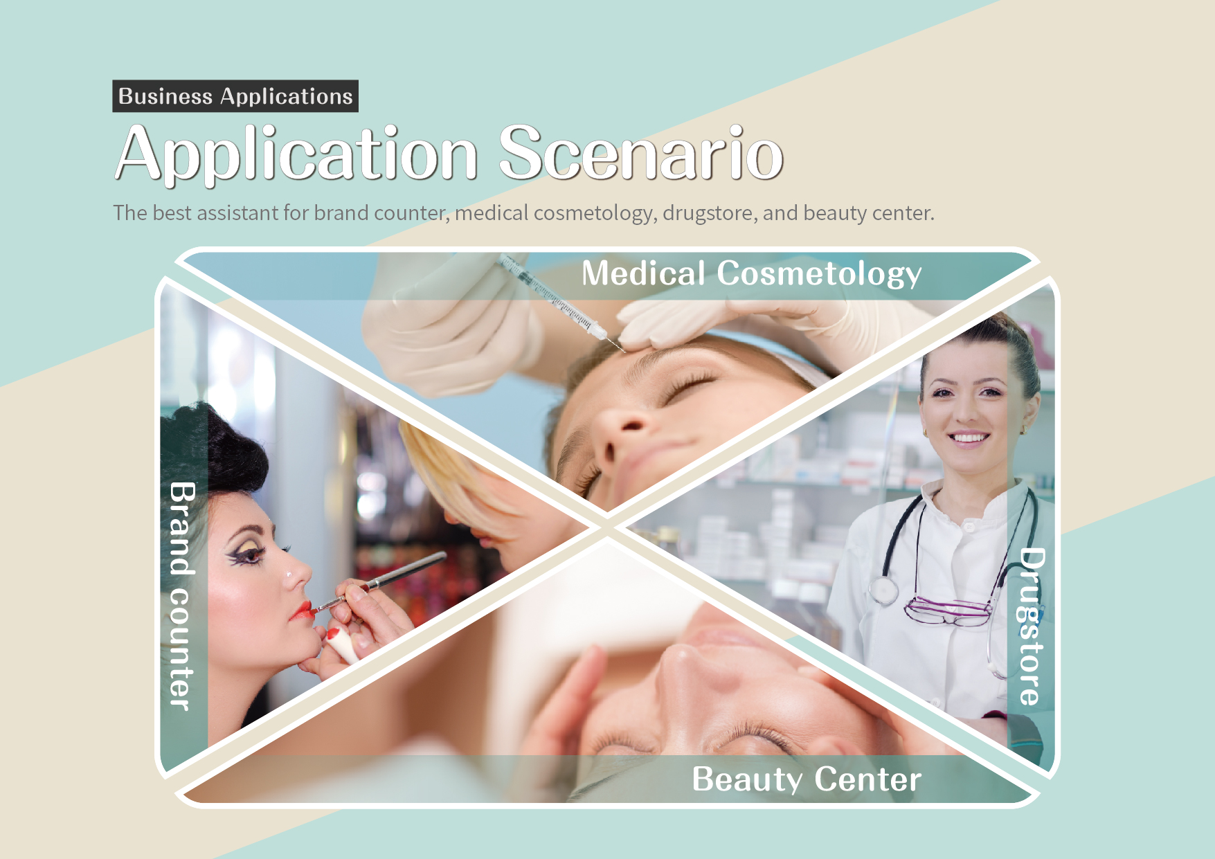 Application Scenario: The best assistant for brand counter, medical cosmetology, drugstore, and beauty center.