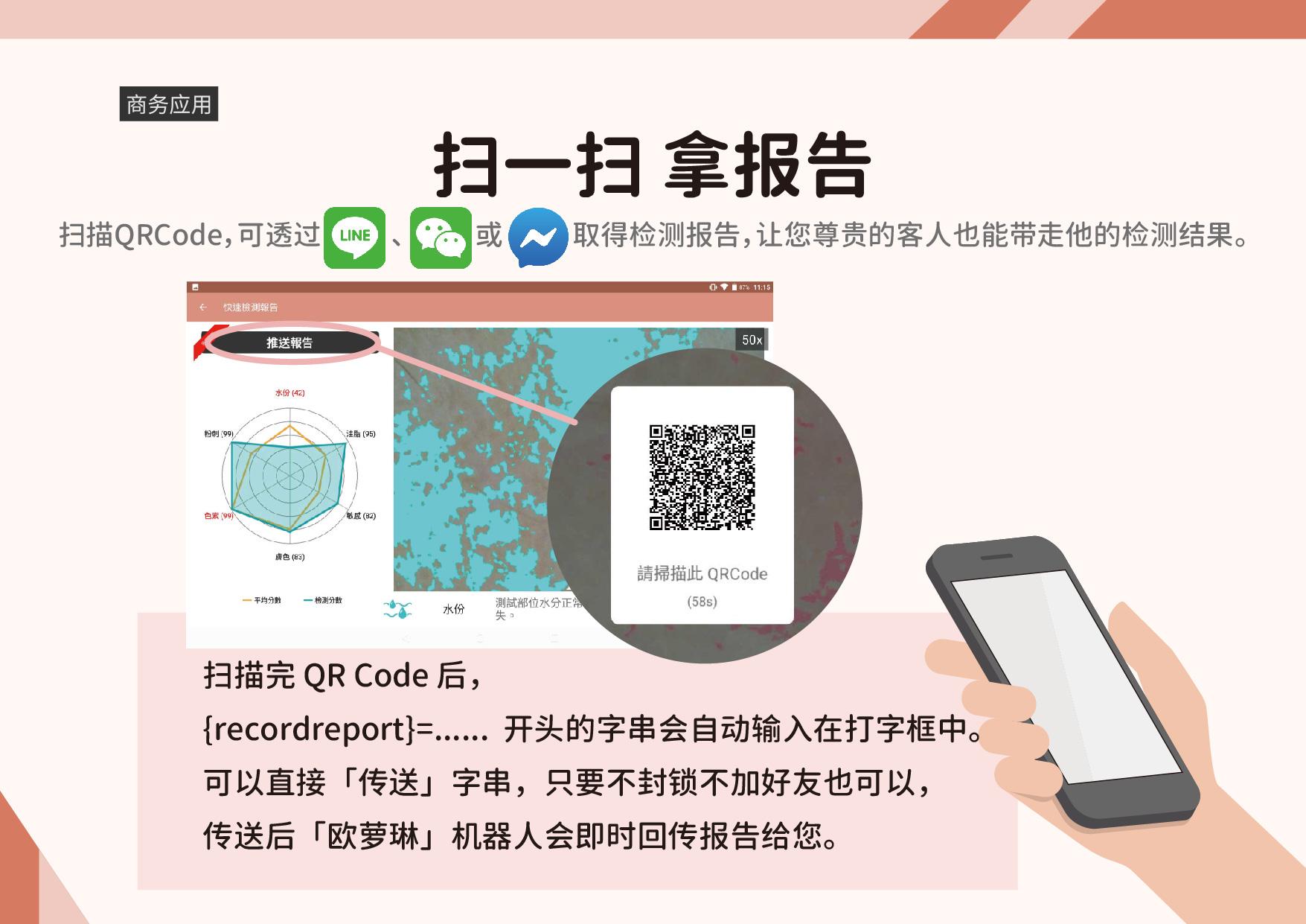 应用场景:在品牌专柜、医学美容、连锁药妆店或是美容机构中,我们的检测软件都是您最佳的助手。