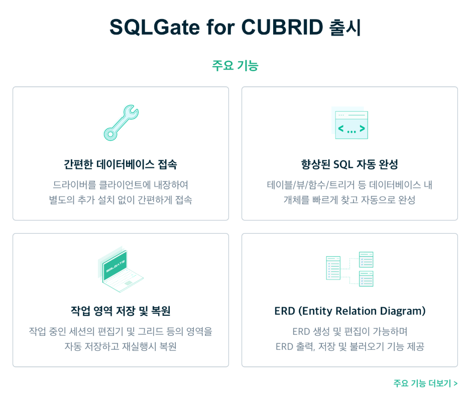 First release of SQLGate for CUBRID