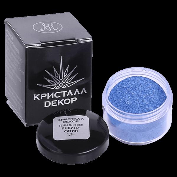 Минеральные тени для век оттенок «Индиго-сатин» купить на ya-ga.ru